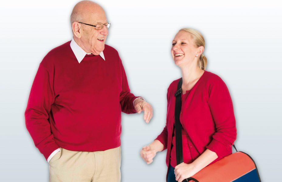 Mitarbeiter Arbeitsplatz Team Familienfreundliche Atmosphäre Job Ältere Menschen