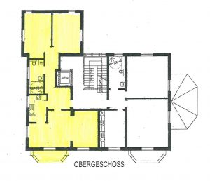 Lage der Wohnung in der Villa im CASA VITA Oberneuland